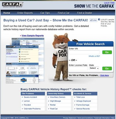 Carfax Goes Mobile